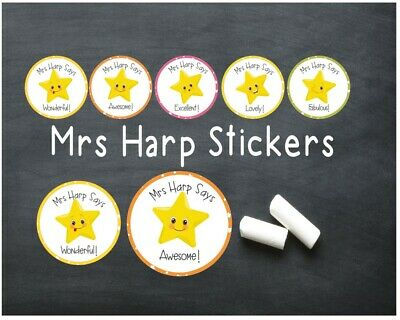 Star Personalised Teacher/Birthday/Party Stickers