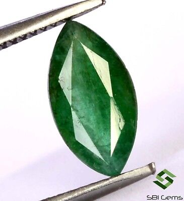 Certified Natural Emerald Marquise Cut 10x5 mm 1.11 Cts Faceted Loose Gemstone