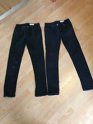 PRIMARK / DENIM & CO - Black Skinny Jeans - 2 Pairs - W26 / L30