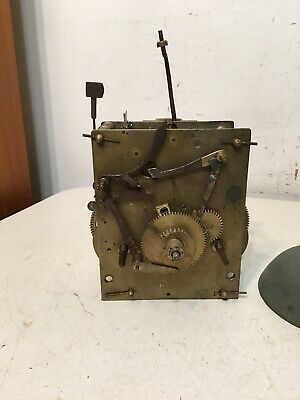 Antique 8 Day Grandfather Or Tallcase Clock Movement