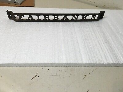 Antique Fairbanks Country Store Scale Cast Iron Advertising Plaque Sign 1