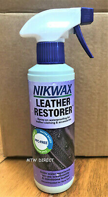 300MLS Nikwax Leather Restorer Conditions, Proofs & Protects -