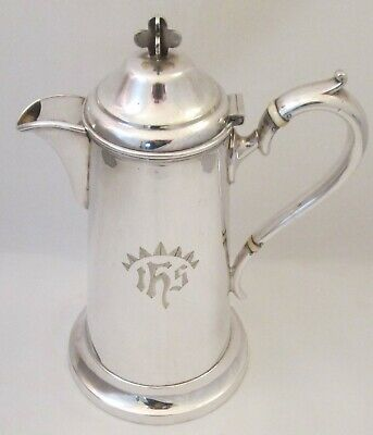 A Small 19th Century Silver Plated Communion Jug - Cross Finial