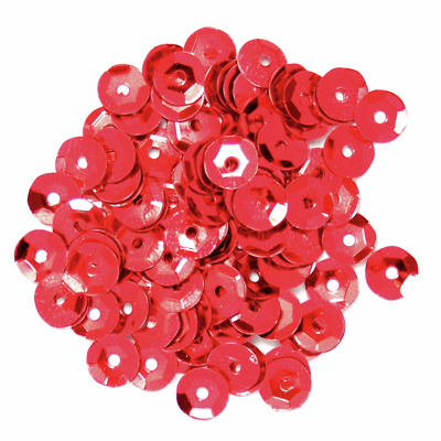 The Craft Factory Cup Sequins Red 5mm 5 Grams