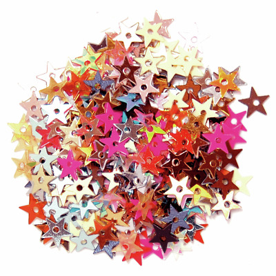 The Craft Factory Cup Miniature Sequins Stars Multi-Coloured 5mm 5 Grams