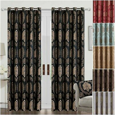 Modern Curtains Living Room Eyelet Ring Top Or Pencil Pleat With Free Tie Backs