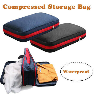 Waterproof Travel Storage Bags Compression Clothes Packing Cube Luggage Pouch