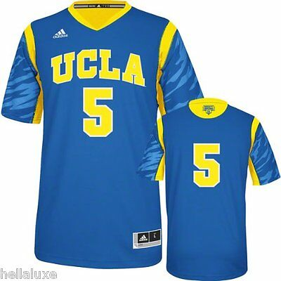 ~NWT~Adidas UCLA BRUINS PREMIER Basketball Jersey MARCH MADNESS shirt top~Mens S