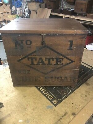 Vintage Wooden Tate And Lyle Crate Rustic Old Bushel Box Shabby Chic