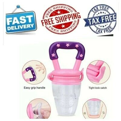 Baby Fruit Feeder Pacifier 3Pack Fresh Food Feeder-Silicone.