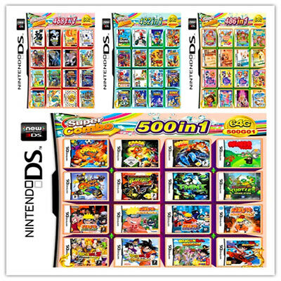 486/488/500/502/520 in 1 Game Games Cartridge Multicart for DS NDS NDSL NDSi 2DS