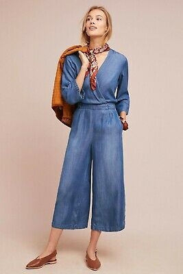 NWT Anthropologie Cloth and Stone Chambray Jumpsuit XS