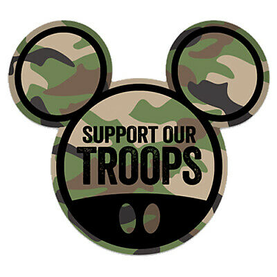 "Mickey Mouse Ears ""Support Our Troops"" Car Magnet All Disney Parks 4 x 3.59"""