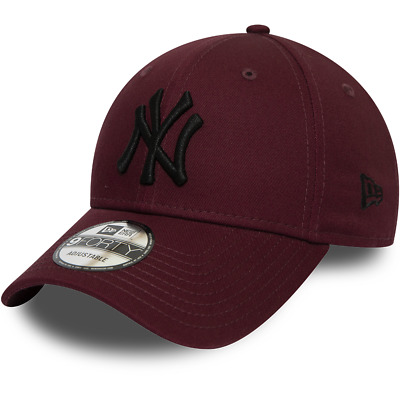 New Era New York Yankees Baseball Cap.9Forty Mlb Maroon League Essential Hat 9W2
