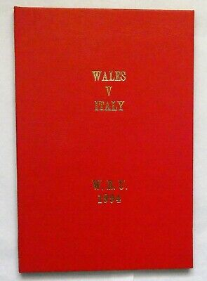 Wales Italy Rugby Union Presentation Programme 1994
