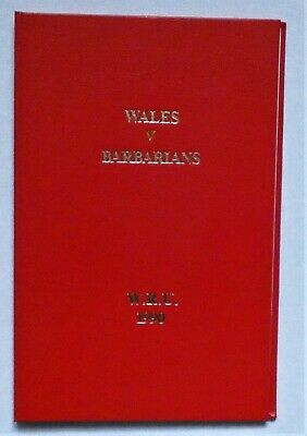 Wales Barbarians Rugby Union Presentation Programme 1990