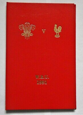 Wales France Rugby Union Presentation Programme 1991