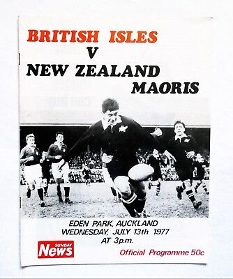 British Lions New Zealand Maoris Rugby Union Programme 1977