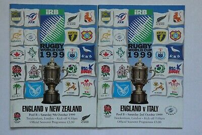 England New Zealand Italy Rugby World Cup Programmes 1999 (2)