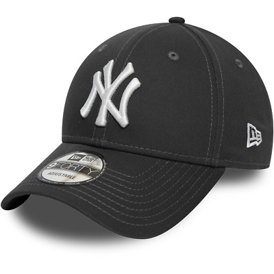 New Era New York Yankees Baseball Cap.9Forty Mlb Grey League Essential Hat 9W2 5