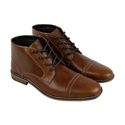 Kenneth Cole Reaction Kirve Boot A Mens Brown Leather Chukkas Boots Shoes