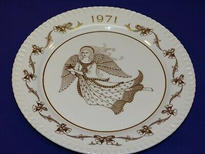 1971 #2 Annual Spode Christmas Plate Ding Dong! Large Angel Bone China England