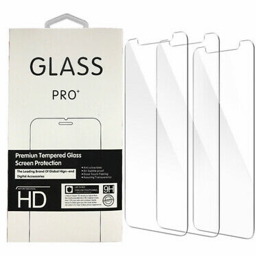 3-Pack iPhone Tempered Glass Screen Protector 6/7/8/Plus/X/XS/XR/11/Pro/Max