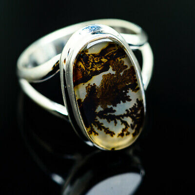 Scenic Dendritic Agate 925 Sterling Silver Ring Size 8 Ana Co Jewelry R975208