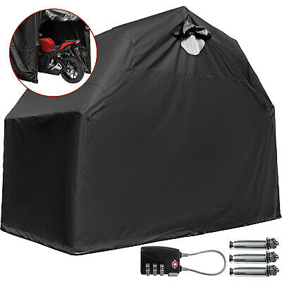 Heavy Duty Motorcycle Shelter Shed Tourer Cover Storage Tent/Small with lock