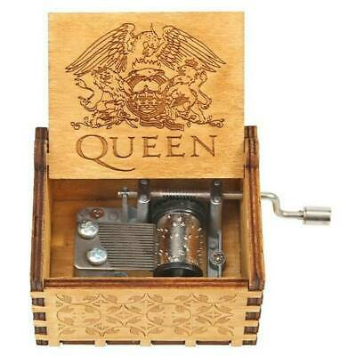 Xmas Music Box Wooden Engraved Queen love Mom Dad Kids Gift Christmas Ornaments