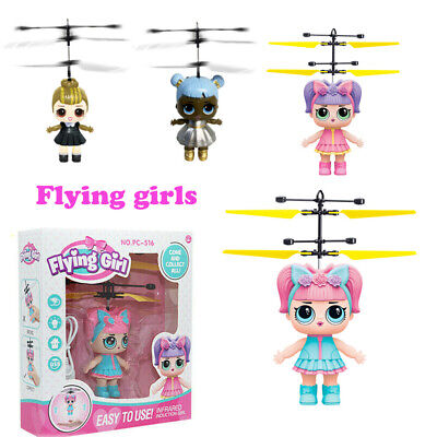 Flying Girls Doll Magic Infrared Induction Control Xmas Toys Children Kids Gift