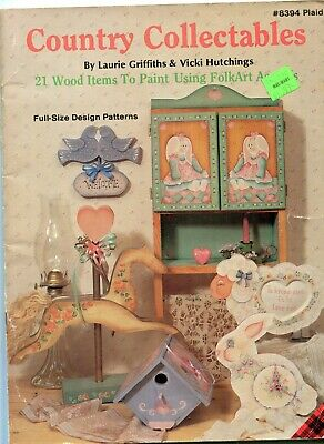 Wood Work 8394 Art Pattern Booklet Folk Art Country Collectables 21 Designs 1989