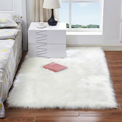 Bedroom Fluffy Rugs Anti-Skid Shaggy Area Rug Dining Room Floor Mat Artificial