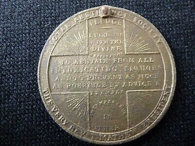 Australian Colonial 1849 Total Abstinence Society Medal (metal detecting find)