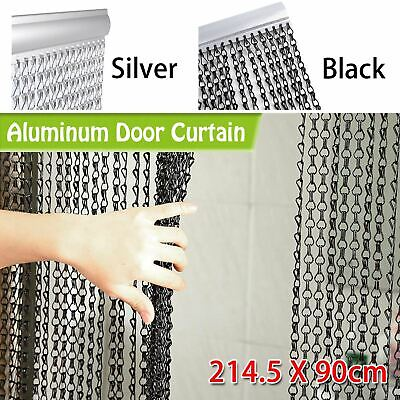 214x90CM Aluminum Door Curtain Metal Chain Fly Insect Blinds Screen Pest Control