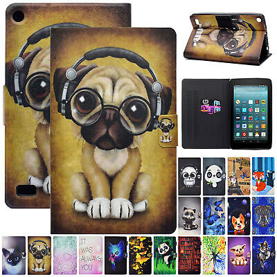 """For Amazon Fire 7"""" 2019 9th Generation Leather Flip Magnetic Case Stand Cover"""