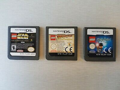 3 Nintendo DS Games - LEGO Indiana Jones, Harry Potter Yrs 1-4 & Star Wars Saga!