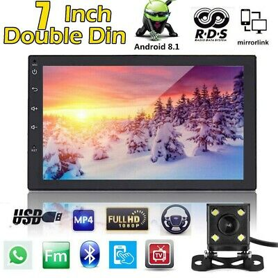Autoradio Navigation MIT Doppel 2DIN GPS Navi Bluetooth USB MP3 7'' Android 8.1