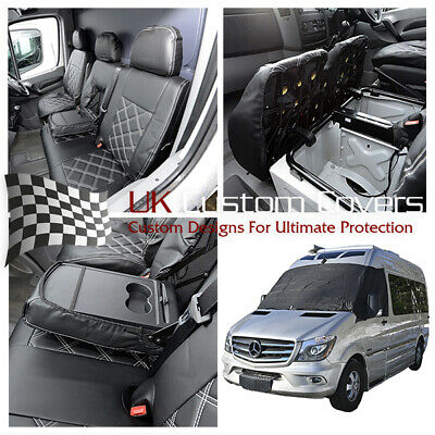 Mercedes Sprinter 2018 Leatherette Front Seat Covers & Screen Wrap 369 234
