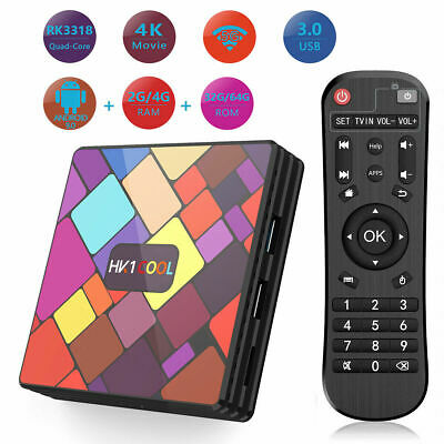 Q plus 6K 4+64G Android 9.0 Smart TV Box Quad Core WIFI HDMI Movies Media Player