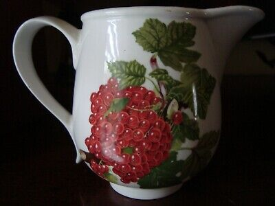 Portmeirion POMONA Red Currant Creamer Pitcher Old Stamp England VGC