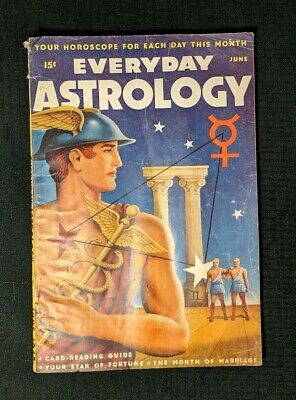 Everyday Astrology Pulp Fiction Mag. June 1947 - Very Clean Spine. Pencil Inside