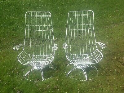 Homecrest Siesta Bent Wire Patio Arm Chairs, Mid Century, Vintage