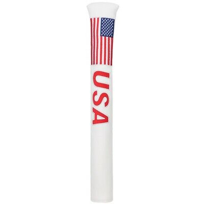 Brand New US USA Flag White Leather Alignment Stick Grip Cover Holder Case