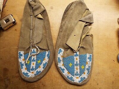 Native American Indian Beaded SIOUX MOCCASINS