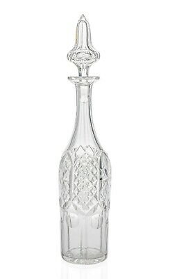 Victorian Antique Cut Glass Gothic Design Wine Decanter with Spire Stopper