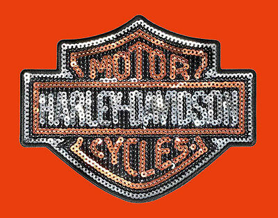 HARLEY DAVIDSON Sequins B&S Logo Medium Patch HARLEY PATCH