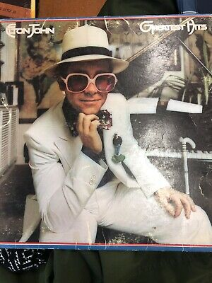 "Elton John ""Greatest Hits"" Record 1974 Open and Unscratched"