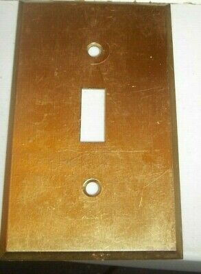 VINTAGE Square Hole Toggle Switch Plate   Bryant  Reclaimed STOCK  solid Brass