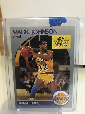 Nba Hoops Magic Johnson #157 Most Valuable Player Lakers 1990